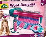 Lena 42681 x Strickset Wool, Komplettset zum Stricken Lernen mit Strickbank, Strickring, Strickliesl, Stricknadeln aus Kunststoff und 50 g Garn, Woll Designer Set für Kinder ab 6 Jahre, Bunt