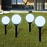 Außenlampe Solarlampe LED-Gartenkugel Kugellampe Keine Notwendigkeit, Kabel zu verlegen Wetterfest Dämmerungssensor 4tlg.