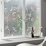 Vinyl Sichtschutz Fensteraufkleber, Anti-Ultraviolett-Wärmeschutz-Fensteraufkleber, geeignet für Badezimmer, Balkon, Schlafzimmer S 45x300cm
