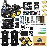 ELEGOO Smart Robot Car Kit V4.0 Kompatibel mit Arduino IDE Elektronik Baukasten mit UNO R3 Mikrocontroller, Line Tracking Modul, Ultraschallsensor, Bluetooth-Modul, Auto Roboter Spielzeug fü