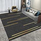 Moderner Minimalistischer Teppich Polyester Fußmatten Wohnzimmer Couchtisch Matten Waschbar rutschfest Geeignet Für Hotel Nachttisch