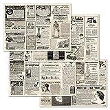 corpus delicti :: Papiertischsets – praktische Platzsets als Abreißblock - Vintage-Anzeigen aus Zeitungen – Newspaper