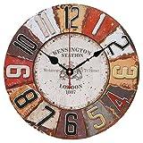 Likeluk Wanduhr Vintage 30 cm, 12Zoll Wanduhr Lautlos Uhr Geräuschlos Uhren Wall Clock ohne Tickgeräusche