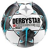 Derbystar Kinder Bundesliga Brillant Light Fußball, weiß schwarz Petrol, 5