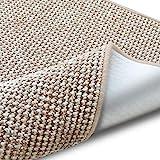casa pura Teppich Grandeur | pflegeleichtes Bouclé | viele Größen | für Flur, Wohnzimmer, Esszimmer, Küche, Schlafzimmer, Büro | gekettelt (Sand - 160x160 cm)