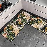OPLJ Küchenmatte Anti-Rutsch-Türmatte Modernes Wohnzimmer Balkon Badezimmer Geometrisch bedruckter Teppich Waschbare Fußmatte A23 50x80cm