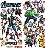 The Avengers personalisierte 3D Cartoon Wandaufkleber für Schlafzimmer Jungen und Mädchen Wandbild Aufkleber Größe: groß 76 cm x 72 cm