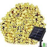Geemoo Solar Lichterkette Aussen, 24M 240 LED Lichterkette Außen Solar, 8 Modi Wasserdicht Outdoor Lichterkette Solar für Garten, Terrasse, Balkon Deko (Warmweiß)