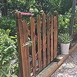 LJIANW Gartenzaun, Zaun Terrasse Zauntür Zum Haustiere Blockieren Hund Draussen Garten Treppe Holztür Kleiner Garten, Single (Color : Brown, Size : 92x155cm)
