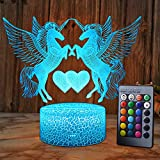XEUYUTR Einhorn LED Nachtlicht Lampe Raum Partydekorationen Dekor Weihnachten Geburtstag Weihnachtsgeschenke Präsentieren Nachttischlampe für Mädchen Jungen Kinder Baby Kinder Spielzeug