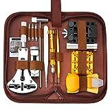 Solonan Uhren-Reparatur-Set, 149-teilig, Profi-Werkzeugset, Reparaturwerkzeug, Ersatz für Batterien, Werkzeug zum E