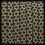 Paracord 550 Seil Diamond für Armband, Leine, Halsband, Polyester-Seil 30 Meter, Farbe: braun-schwarz