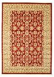 RugVista Teppich Ziegler Kaspin, Kurzflor, 160 x 230 cm, Rechteckig, Orientalisch, Ziegler, Öko-Tex Standard 100, Polypropylen, Schlafzimmer, Wohnzimmer, Rot