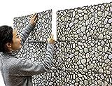 Chunse 10 Packung 3D Wandplatten Abnehmbare Faux Stein Backstein Dekorative PVC Schaum Selbstklebende Tapete Abnehmbare Wanddekoration
