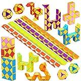WEARXI Mitgebsel Kindergeburtstag - 24er 24 Blöcke Schlange Würfel Spielzeug Knobelspiele Kinder, Give Aways Kindergeburtstag Gastgeschenke Jungen Magische 3D Puzzle Kinder Party Zufällige Farben