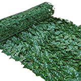 ZHENGX Artificial Ivy Privacy Fence Screen 39x20 Inches Stretchable Faux Vine Leaf Decoration for Home Garden Balcony Privacy Screen, Wind Protection Cover for Balcony, Patio, Fence Privacy Fence
