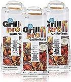 Grillprofi Premium Grillbriketts 26kg Grillkohle Grill Brikett Kohle Holz Holzkohle für Kugel- & Holzkohlegrill geeignet bis 3,5 Stunden Grilldauer   100% Made in Germany   von Energie Kienb