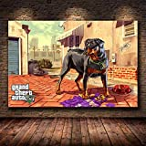 Spielplakat Grand Theft Auto 5 GTA 5 Leinwand Kunstdruck Malerei Raumdekoration Wandbild Home Decoration 50X70Cm -Sn2110