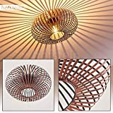 Deckenleuchte Ovari, Deckenlampe aus Metall in Kupfer, 1-flammig, 1 x E27-Fassung max. 60 Watt, moderner Spot im Retro/Vintage Design m. Gitter u. Lichteffekt an der Decke, LED geeignet