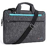 DOMISO 14 Zoll Laptop Tasche Hülle Notebooktasche Wasserdicht Aktentasche Tragetasche Schultertasche für 14' HP Stream 14 Pavilion 14/Lenovo Yoga 710/14' ThinkPad A475 Laptop/Asus,Blau