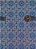 Boncahier 105012 Notizbuch 17.5 x 13 cm, 144 Seiten, liniert, Portugal Motiv, blau k