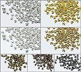 Inwaria Kaschierperlen Ø 5 mm Quetschperlen 100 Stk. Verdeckperlen Messing, S150/5 (Anthrazit)