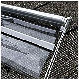 Rollos Pavillon Pergola Transparent Rollo Jalousie Mit Fitting, Terrasse Wasserdicht Durchsichtiger Kunststoff Roll-up Shade, Wind- Und Staubdicht (Size : 140×180cm/W×H)