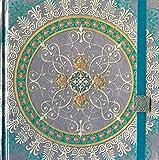 Boncahier 104013 Notizbuch 17.5 x 17.5 cm, 144 Seiten, blanco, Mandalas Motiv, violett/silb