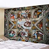 KHKJ Engel Wandteppich Mandala Wandbehang Wohnkultur Wand Teppich Wohnzimmer Schlafzimmer Böhmische Engelsflügel TV Hintergrund A6 95x73cm