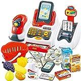 Qiiueen Intelligente Registrierkassen, Kasse für Kinder mit Pago-Scanner, Obstkartenleser, Kreditkarten-Maschine