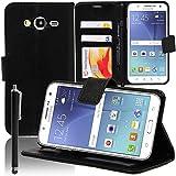 Annart® Schutzhülle für Samsung Galaxy J5 SM-J500F, inkl. Eingabestift, Schwarz