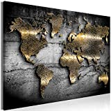 decomonkey Bilder Weltkarte 90x60 cm 1 Teilig Leinwandbilder Bild auf Leinwand Vlies Wandbild Kunstdruck Wanddeko Wand Wohnzimmer Wanddekoration Deko Abstrakt Landkarte
