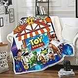 Ruiqieor Toy Story Decke Kuscheldecke Flauschige Flanelldecke 130 x 150cm Kuscheldecke,Toy Story Decke Ultra weiche Doppelseitige Flanelldecke,A102,Weich Wohndecke, Sofadecke