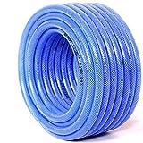 Gartenschlauch Gardena Schlauch Wasserschlauch PVC-Schlauch Zum Gießen Waschen, Blaues flexibles Leichtgewicht Knickfrei Schlauch, Verschleißfest Kältesicher Wasserrohr, Mit Düse ( Size : 25M/82ft )