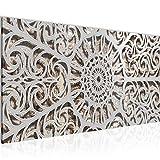 Wandbilder Mandala Abstrakt Modern Vlies Leinwand Wohnzimmer Flur Orientalisch Grau 506112c