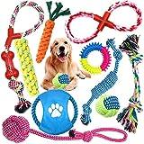 MOOING Hundespielzeug Set,Hundeseile, interaktives Pet Rope Spielzeug, Hergestellt aus Natürlicher Baumwolle ungiftig und geruchlos Robust Besser,geeignet für kleine und mittelgroße Hunde (10 PCS)