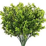 NAHUAA 4Pcs Künstliche Pflanze Balkon Kunstpflanzen Plastikpflanzen Unechte Pflanzen Deko für Vase Tisch Balkon Zimmer Büro Flur Hochzeit Dekoration Garten Grün