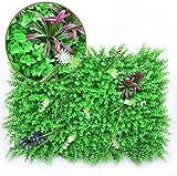 10PCS künstliche Heckenpflanze Heckenschattierungsplatte für Gartenzaun Green Screen Ivy 40 x 60 cm