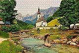 Puzzle für Erwachsene Berchtesgaden Ramsau Bayern Deutschland Puzzle 1000 Stück hölzernes Reisegeschenk Geschenk