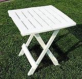 DXXWANG Kunststoff Gartentisch klappbar - 6 Farben - Kleiner Campingtisch Beistelltisch (Color : Weiß)