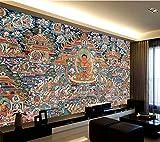 Z.L.F.J.P Tibetisch WELLYU Customized Große Tapete 3D Neue chinesische Art Thangka Buddha Kunst Hintergrund Wohnzimmer Schlafzimmer Hintergrund Tapete (Dimensions : 1 m2)