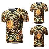 XJWDTX Außenhandel Ebay AliExpress 2018 Sommer Neue Männer Casual Loose Print Persönlichkeit Mode Jugend Kurzarm T-Shirt