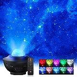 Sternenhimmel Projektor, Elekin LED Sternenprojektor Lampe mit Fernbedienung Starry Stern Mond, Wasserwellen-Welleneffekt, Bluetooth Lautsprecher Perfekt für Party Weihnachten Ostern Hallow