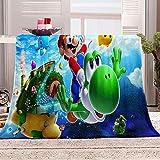 Kuscheldecken 150x200 cm Mario Anime 3D Drucken Decke Flanell Flauschige Decke Kuschelige Wohndecke Sofadecke Reisedecke Vielseitig Einsetzbar Decke
