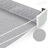 OKJK Plisseerollo, Flammhemmender sonnenschutzstoff für technische Balkone, durchscheinende plissee, Bohren und Installieren, Für Büro-Wohnzimmer (Grey White,Custom Size 1m²)