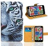 FoneExpert® Nokia Lumia 630 Handy Tasche, Wallet Case Flip Cover Hüllen Etui Ledertasche Lederhülle Premium Schutzhülle für Nokia Lumia 630