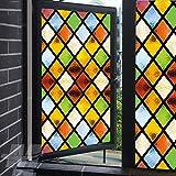 Milchglas-Fensterfolie, Sichtschutz in gedeckten Farben, statische Haftung, dekorative Fensterverkleidungen, UV-blockierende Fensteraufkleber, 60 x 120
