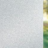 FEOMOS Glitzernde Milchglasfolie – Sichtschutz-Fenster-Dekorfolie, bunt, funkelnd, Milchglas-Aufkleber für Badezimmer, Glas, selbstklebend, 90 x 200