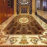 Bodentapete im europäischen Stil 3D-Marmormuster Wandbild Wohnzimmer Hotelküche PVC Selbstklebende wasserdichte 3D-Bodenaufkleber-250 * 175 cm