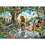 GJYAC 5D DIY Diamantmalerei Full Square Drill ,Zoo Tiere, EIN Geschenk für die Familie, (16X20 Zoll / 40X50cm)